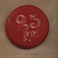 Monedas locales: FICHA CASINO EL OLIMPO.REUS. 25 PTAS.BAQUELITA. Lote 23642204