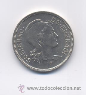 EUZKADI- 2 PESETAS-1937 (Numismática - España Modernas y Contemporáneas - Locales y Fichas Dinerarias y Comerciales)