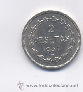 Monedas locales: EUZKADI- 2 PESETAS-1937 - Foto 2 - 17410038