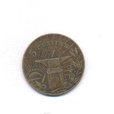 Monedas locales: RARA FICHA 5 CENTIMOS. Lote 17551507