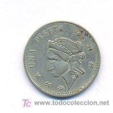 Monedas locales: FICHA 1 PESETA-REVERSO: UNA PESETA. Lote 17552036
