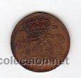 Monedas locales: FICHA DE ALFONSO XIII POR LA GRACIA DE DIOS - Foto 2 - 25631471