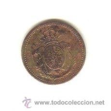 Monedas locales: RARA FICHA ESCUDO DE ALFONSO XII O XIII A CLASIFICAR CASINO ¿?DIÁMETRO: 20 MM.. Lote 23910978