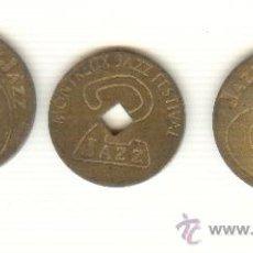 Monedas locales: TRES FICHAS FESTIVAL JAZZ PIANO MONTREUX SUIZA A CLASIFICAR. Lote 22103282