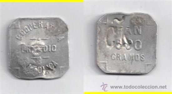 FICHA: ERANDIO 500 GR PAN - BILBAO - VIZCAYA (4) (Numismática - España Modernas y Contemporáneas - Locales y Fichas Dinerarias y Comerciales)