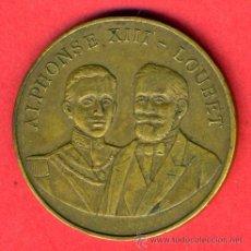 Monedas locales: FICHA O MEDALLA ALFONSO XIII Y LOUBET, PARIS 1905 , ORIGINAL, F707. Lote 23965329
