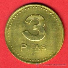 Monedas locales: FICHA CASINO GRANDE , VALOR 3 PESETAS , ORIGINAL, F708. Lote 27451374