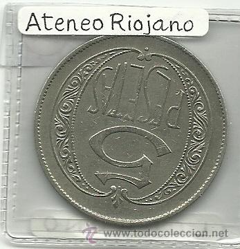 Monedas locales: (FCP-19)FICHA 5 PTS.CASINO ATENEO RIOJANO(LOGROÑO) - Foto 2 - 24785623