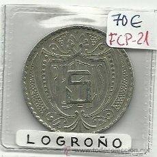 Monedas locales: (FCP-21)FICHA 5 PTS.CIRCULO LOGROÑES(LOGROÑO). Lote 24785652