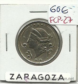 (FCP-27)FICHA 1 PTS.ORFEON ZARAGOZANO(ZARAGOZA) (Numismática - España Modernas y Contemporáneas - Locales y Fichas Dinerarias y Comerciales)