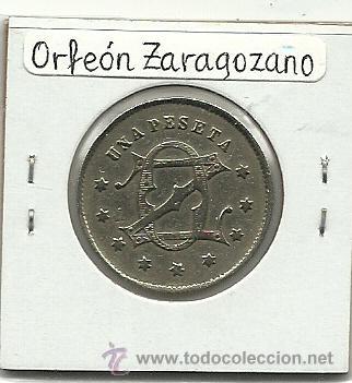 Monedas locales: (FCP-27)FICHA 1 PTS.ORFEON ZARAGOZANO(ZARAGOZA) - Foto 2 - 24785802