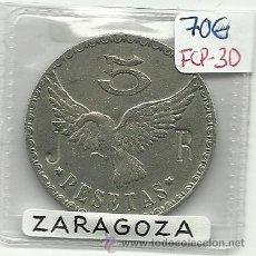 Monedas locales: (FCP-30)FICHA 5 PTS.AEREO CLUB ARAGON(ZARAGOZA). Lote 24785860