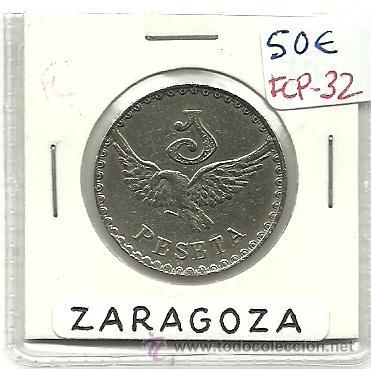(FCP-32)FICHA 1 PTS.AEREO CLUB ARAGON(ZARAGOZA) (Numismática - España Modernas y Contemporáneas - Locales y Fichas Dinerarias y Comerciales)