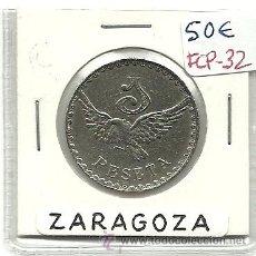 Monedas locales: (FCP-32)FICHA 1 PTS.AEREO CLUB ARAGON(ZARAGOZA). Lote 24785891