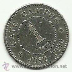 Monedas locales: (FCP-1)FICHA 1 PTS.CAFE CAMPOS DE JOSE PUIG(SABADELL). Lote 25058512