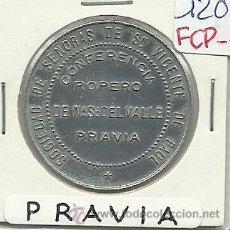Monedas locales: (FCP-71)FICHA 25 UN PAN CONFERENCIA ROPERO DE NTRA.SRA.DEL VALLE DE PRAVIA(ASTURIAS). Lote 25060300