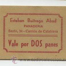 Monedas locales: PANADERIA ESTEBAN BUITRAGO ABAD / CARRION DE CALATRAVA / 2 PANES. Lote 26942061