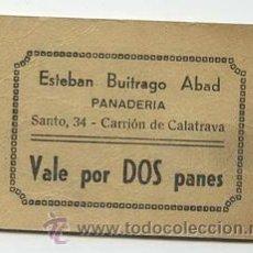 Monedas locales: PANADERIA ESTEBAN BUITRAGO ABAD / CARRION DE CALATRAVA / 2 PANES. Lote 26942062