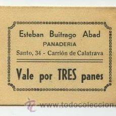 Monedas locales: PANADERIA ESTEBAN BUITRAGO ABAD / CARRION DE CALATRAVA / 3 PANES. Lote 26968761