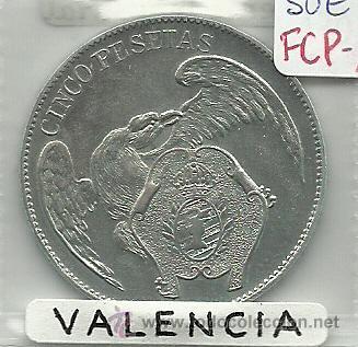 (FCP-115)FICHA 5 PTS.CASINO FOMENTO INDUSTRIAL(VALENCIA) (Numismática - España Modernas y Contemporáneas - Locales y Fichas Dinerarias y Comerciales)