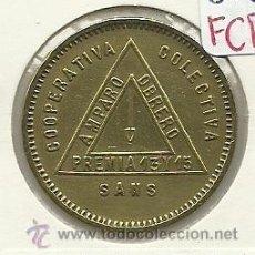 Monedas locales: (FCP-99)FICHA 10 CTS.COOPERATIVA COLECTIVA AMPARO OBRERA DE SANS(BARCELONA). Lote 25203686