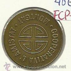 Monedas locales: (FCP-93)FICHA 5 CTS.COOPERATIVA L´AMISTAT(MONTGAT). Lote 182605367