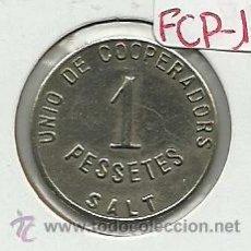 Moedas locais: (FCP-131)FICHA 1 PTS.UNIO DE COOPERADORS DE SALT(GIRONA). Lote 25267783