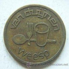 Monedas locales: FICHA DE MAQUINA DE CAFE Y COMIDA DE HOLANDA. Lote 25385698