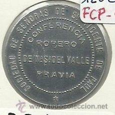 Monedas locales: (FCP-53)FICHA VALE 1/2 L.LECHE CONFERENCIA DE SEÑORAS DE ST.VICENTE DE PAUL DE PRAVIA(ASTURIAS). Lote 25527726