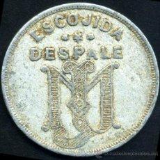 Monedas locales: FICHA DE 2 1/2 CENTAVOS - ESCOJIDA DESPALE - TABAQUERA DE JOSE MARTINEZ (JM) HABANA - CUBA 1895. Lote 26343629