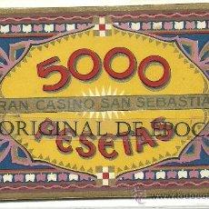 Monedas locales: (FCP-186)FICHA 5000 PTS.CASINO DE SAN SEBASTIAN. Lote 25946045