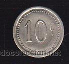 FICHA DE 10 CENTIMOS A IDENTIFICAR (Numismática - España Modernas y Contemporáneas - Locales y Fichas Dinerarias y Comerciales)