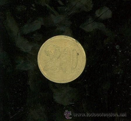 FICHA DE 20 A IDENTIFICAR. (Numismática - España Modernas y Contemporáneas - Locales y Fichas Dinerarias y Comerciales)