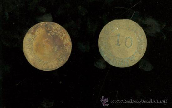 ISLA CRISTINA. MARTIN CABET. 1910. 5 Y 10 CENTIMOS. COMPLETA. (Numismática - España Modernas y Contemporáneas - Locales y Fichas Dinerarias y Comerciales)