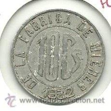 Monedas locales: (FC-253)FICHA 10 CTS.LA EQUITATIVA FABRICA DE MIERES. Lote 26499464