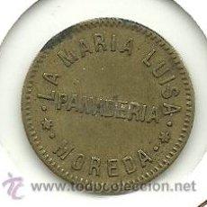 Monedas locales: (FC-252)FICHA VALE 1 PAN PANADERIA LA MARIA LUISA. Lote 26499491