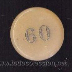 Monedas locales: FICHA DINERARIA DEL CASINO MERCANTIL. Lote 26680858