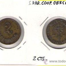Monedas locales: C97-SOCIEDAD COOPERATIVA OBRERA SAN JUAN DE HORTA. 2 CÉNTIMOS. Lote 26906882