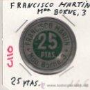 Monedas locales: C110-FRANCISCO MARTÍN. 25 PESETAS. MDO. BORNE 3.. Lote 26908546