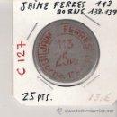 Monedas locales: C127-JAIME FERRES. 25 PTAS. BORNE, 138-139. Lote 27193204
