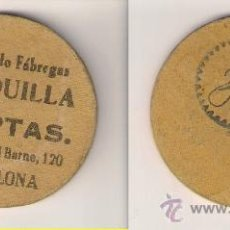 Monedas locales: C137-RAYMUNDO FÁBREGAS ROSQUILLA. 25 PESETAS. MDO. CENTRAL BORNE, 120. BARCELONA. Lote 27194024