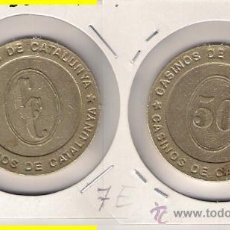 Monedas locales: C148-CASINOS DE CATALUÑA. 50 PESETAS.. Lote 27197744