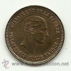 Monedas locales: (FCP-203)FICHA PUBLICITARIA ANACLETO DE LA CAMARA DE VILLAFRANCA DE LOS BARROS(BADAJOZ). Lote 27726066