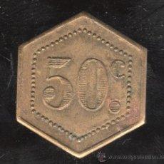 Monedas locales: FICHA DE 50 CENTIMOS A IDENTIFICAR. Lote 27731938