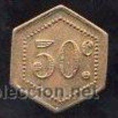 Monedas locales: FICHA DE 50 CENTIMOS A IDENTIFICAR. Lote 27743861