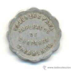 Monedas locales: FICHA DE 5 CENTAVOS DEL INGENIO AZUCARERO DE CHAPARRA EN CUBA. Lote 28443001