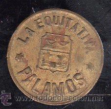 FICHA DE 5 CENTIMOS DE PALAMOS LA EQUITATIVA (Numismática - España Modernas y Contemporáneas - Locales y Fichas Dinerarias y Comerciales)