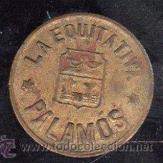 Monedas locales: FICHA DE 5 CENTIMOS DE PALAMOS LA EQUITATIVA. Lote 28490316