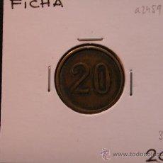 Monedas locales: FICHA: 20. Lote 28856035