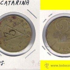 Monedas locales: C262-FICHA. NOY CATARINA. 2 PESETAS.. Lote 28709088